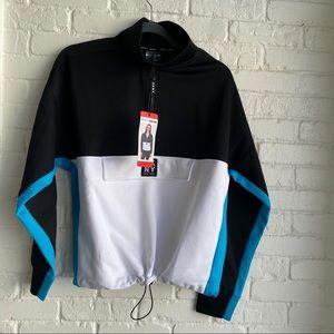 NWT DKNY Sport Crop Sweatshirt Colorblock Medium